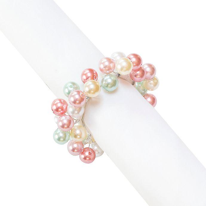 Alternate image 1 for Pearl Sparkle Napkin Rings (Set of 4)