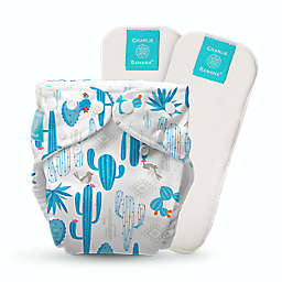 Charlie Banana® Cactus One Size Reusable Cloth Diaper with Inserts