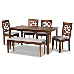 Baxton Studio Owain 6-Piece Dining Set