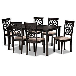 Baxton Studio Zac 7-Piece Dining Set