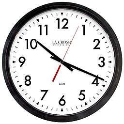 La Crosse Technology 14-Inch Info-Tech Commercial Wall Clock in Black