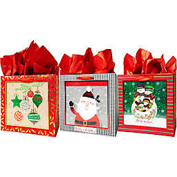 Assorted Large Square Shadow Bags with Tissue Paper