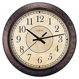 La Crosse Techonology Savannah 14-Inch Analog Wall Clock in Bronze