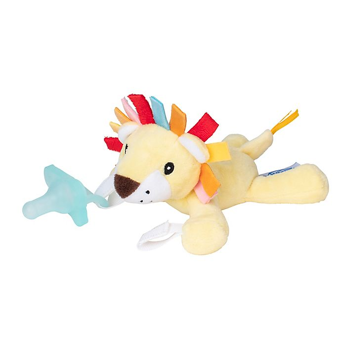 Alternate image 1 for Dr. Brown's® Lonny the Lion Lovey Pacificer and Teether Holder in Yellow