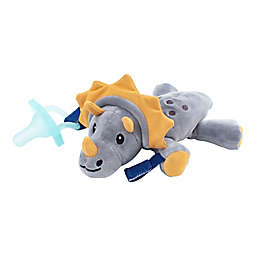 Dr. Brown's® Triceratops Lovey Pacificer and Teether Holder in Grey