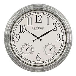 La Crosse Technology 14-Inch Silas Indoor/Outdoor Clock with Temprature and Humidity