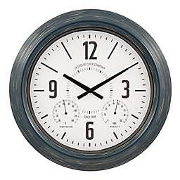 La Crosse® Technology Hamilton 18-Inch Indoor/Outdoor Wall Clock in Blue