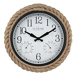 La Crosse® Technology Rowan 14-Inch Indoor/Outdoor Wall Clock