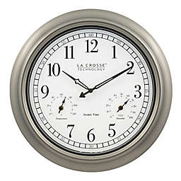 La Crosse Technology 18-Inch Atomic Indoor/Outdoor Wall Clock