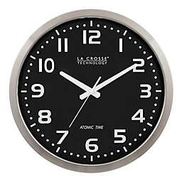 La Crosse Technology Atomic Round Analog Wall Clock