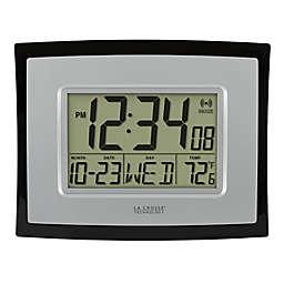 La Crosse Technology Digital Wall Clock with Indoor Temp and Calendar