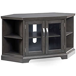 Leick Home Riverstone Corner TV Stand in Grey