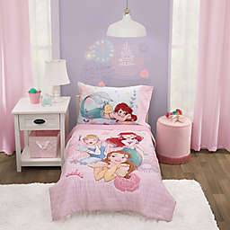 "Disney® Princess ""Always Be Bold"" 4-Piece Toddler Bedding Set in Pink"