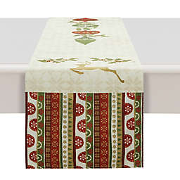 Laural Home® Simply Christmas Table Runner in Red/Beige