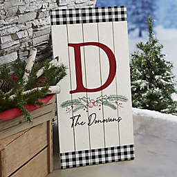 Festive Foliage Personalized Standing Wood Sign