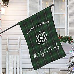 Christmas Plaid House Flag