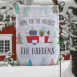 Christmas Camper Personalized Garden Flag