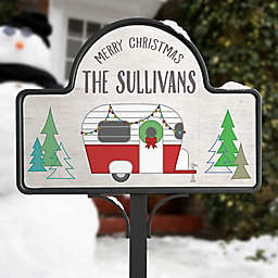 Christmas Camper Personalized Magnetic Garden Sign