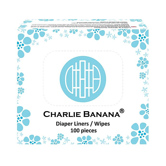 Alternate image 1 for Charlie Banana® 100-Count 2-in-1 Diaper Liners & Wipes