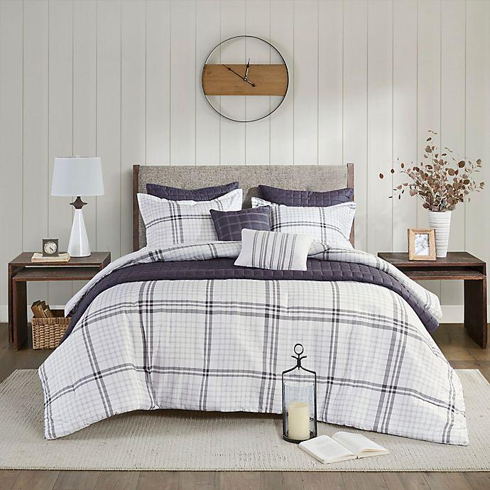 Alternate image 1 for Madison Park® Fillmore Seersucker 8-Piece Full/Queen Comforter and Coverlet Set in Grey