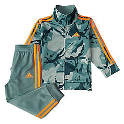Adidas® 2-Piece Classic Camo Tricot Set in Green