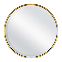 18-Inch Round Metal Wall Mirror in Gold