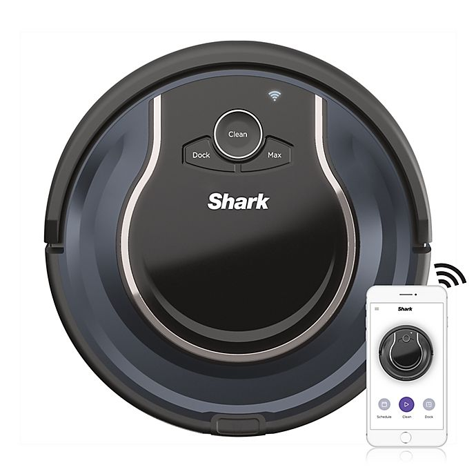 Alternate image 1 for Shark ION R76 Wi-Fi-Connected Robot® Vacuum in Navy/Black