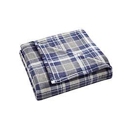 Morgan Home Velvet Plush Throw Blanket in Blue