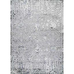 Couristan® Brocatelle Brocade Damask 7'10 x 10'9 Area Rug in Silver/Cream