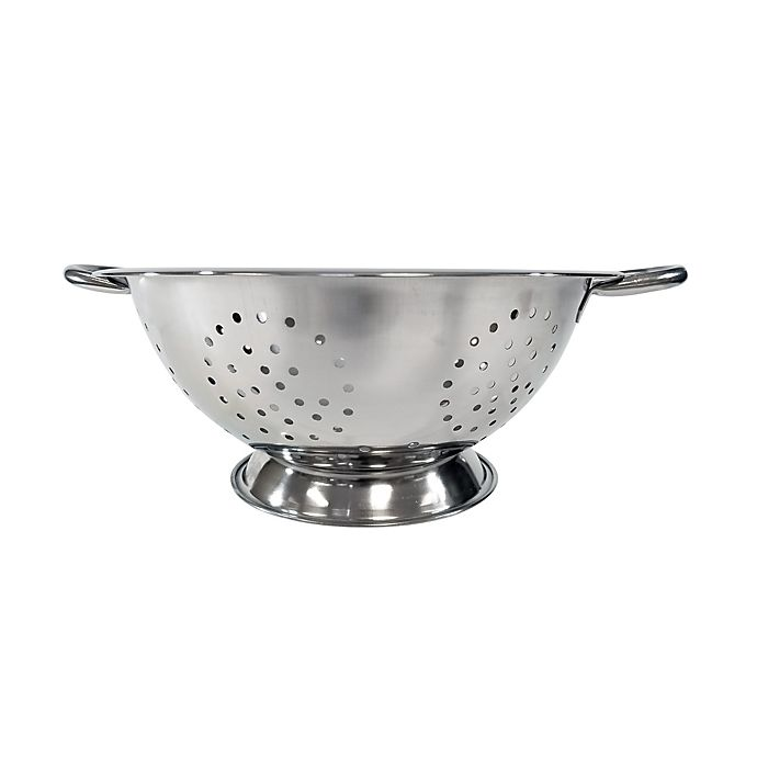 Alternate image 1 for Simply Essential™ 5 qt. Stainless Steel Footed Colander
