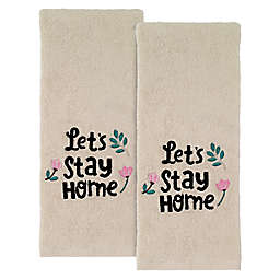 "Avanti ""Let's Stay at Home"" Hand Towels (Set of 2)"
