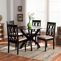Baxton Studio Carla 5-Piece Dining Set