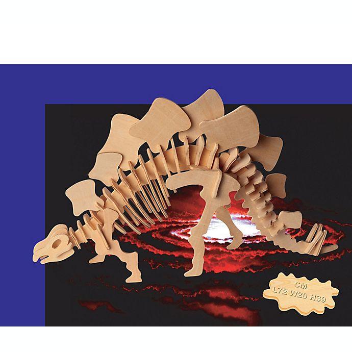 Alternate image 1 for Puzzled Stegosaurus 51-Piece 3D Wooden Puzzle