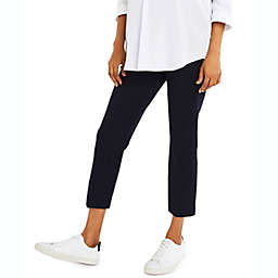 A Pea in the Pod X-Small Curie Twill Slim Ankle Maternity Pant in Navy