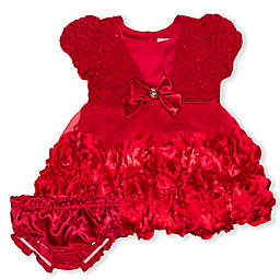 Nannette Baby® 2-Piece Bow Dress and Diaper Cover Set in Red