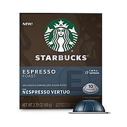 Starbucks® by Nespresso® Vertuo Line Espresso Roast Coffee Capsules 10-Count