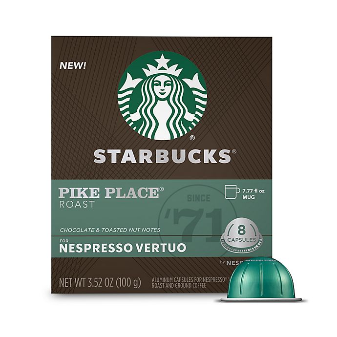 Alternate image 1 for Starbucks® by Nespresso® VertuoLine Pike Place Coffee Capsules 8-Count