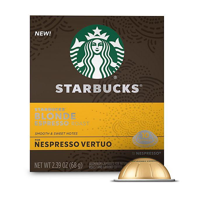 Alternate image 1 for Starbucks® by Nespresso® VertuoLine Blonde Espresso Capsules 10-Count