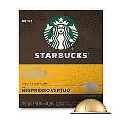 Starbucks® by Nespresso® Vertuo Line Blonde Espresso Capsules 10-Count