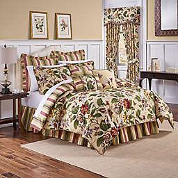 Waverly® Laurel Springs Reversible King Comforter Set in Parchment