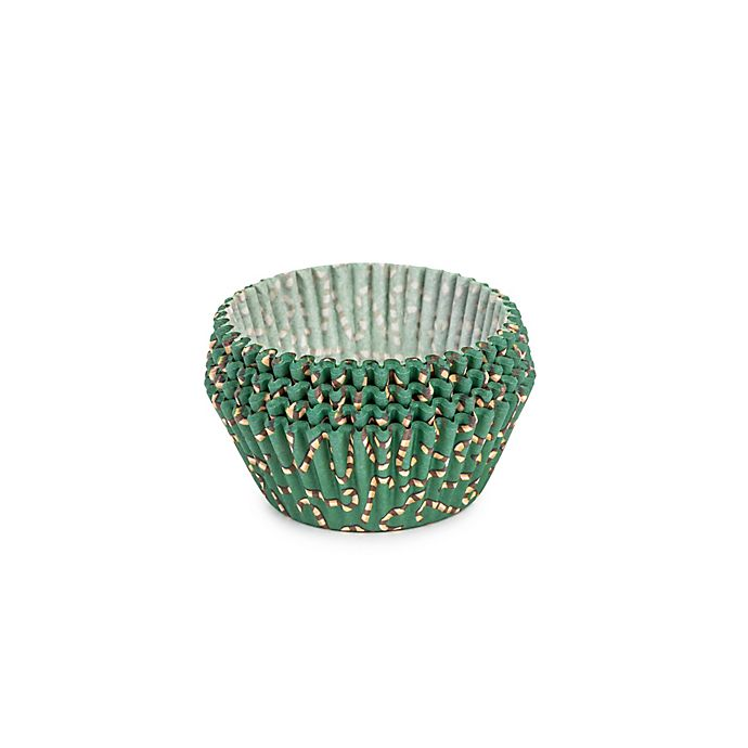 Alternate image 1 for Core Kitchen™ 75-Count Holiday Standard Cupcake Liners in Green