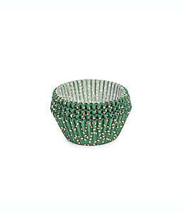 Capacillos para cupcakes estándar Core Kitchen™ navideños en verde, 75 piezas