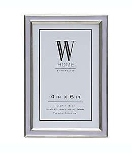 Portarretratos con marco de metal W Home™ esmaltado color lavanda