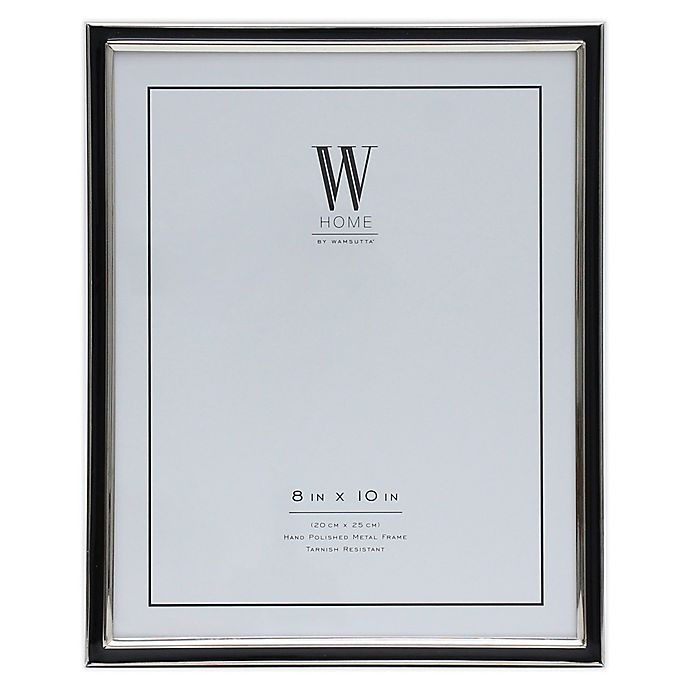 Alternate image 1 for W Home™ Enamel 8-Inch x 10-Inch Picture Frame in Black