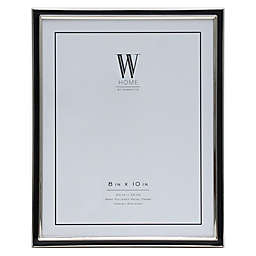 W Home™ Enamel 8-Inch x 10-Inch Picture Frame in Black