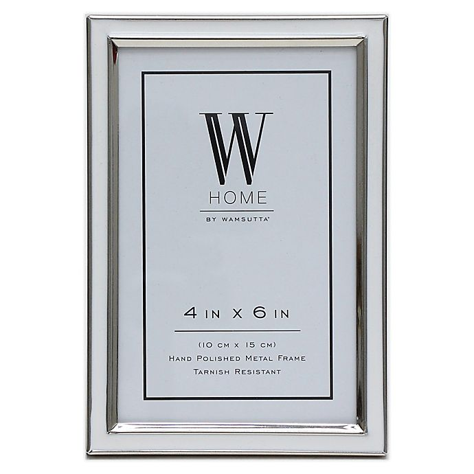 Alternate image 1 for W Home™ Enamel 4-Inch x 6-Inch Picture Frame in White