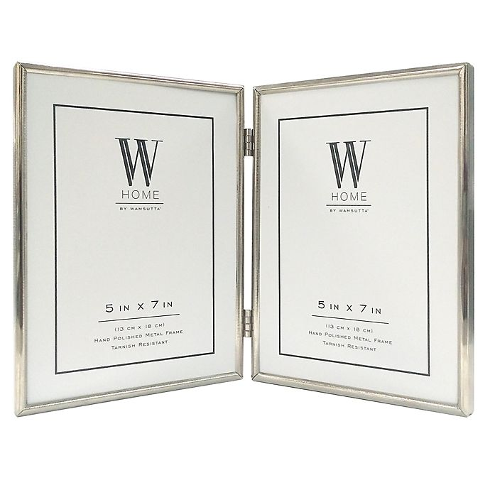 Alternate image 1 for W Home™ 2-Opening 5-Inch x 7-Inch Narrow Picture Frame in Silver