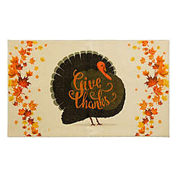Mohawk Home Give Thanks Turkey Accent Rug in Cream