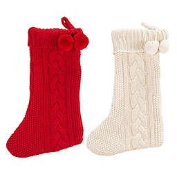 Safavieh Nutmeg Knit Christmas Stockings (Set of 2)
