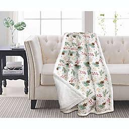 Harper Lane Pinecone Throw Blanket in White